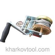 Лебедка рычажная барабанная стальной трос 900 кг Intertool GT1455 фото