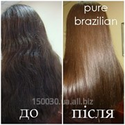 Кератиновое восстанавление и выпрямление волос Pure Brazilian в Львове фото
