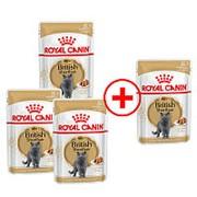 Royal Canin 3+1*85г пауч British Shorthair Adult Влажный корм для кошек породы Британская короткошер фото