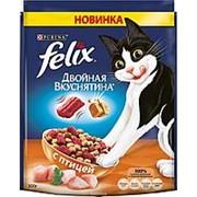 Felix 300г Двойная вкуснятина Сухой корм для взрослых кошек Птица фото