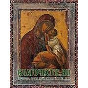 Благовещенская икона Всех Надежда Богородица, копия старой иконы, печать на дереве Высота иконы 11 см фото