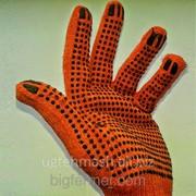 Перчатки Х/б Оранжевые фото
