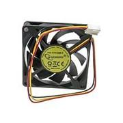 Вентилятор Gembird 70x70x15 втулка 3 pin провод 25 см фото