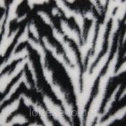 "Ткань Флис (Polarfleece) принт ""Зебра"" фото"