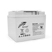Аккумуляторная батарея AGM RITAR RA12-40, Gray Case, 12V 40.0Ah ( 198 x166 x 169 ) Q1 фото