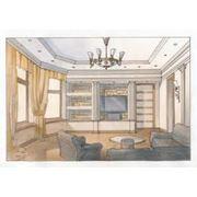 Дизайн проект интерьера комнаты фото