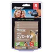 Memorex mini DVD+RW disc 14GB 4x 5 Pcs Slim box фото