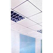 Потолки подвесные алюминиевые кассетные фото