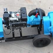 Плунжерный насос GEOMARC TRIPLEX 90 на 2-ух колесном прицепе фото