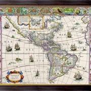 Картина Карта Америки, Неизвестен фото