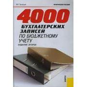 4000 Бухгалтерских записей по бюджетному учету фото