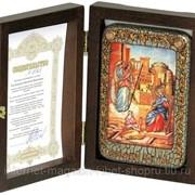 Настольная икона Благовещение Пресвятой Богородицы на мореном дубе фото