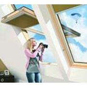 Монсардные окна с повышенной осью вращения фото