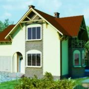 """Дома каркасные деревянные Проект """"Валери"""" 130,06м², канадский деревянный каркасный дом фото"""