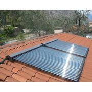 Монтаж систем солнечного нагрева воды гелиосистемы фото