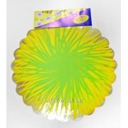 Фольга салфетка жёлто-салатовая M0028 фото