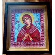 Картина Вышита бисером Икона Божья Мать Семистрельная фото