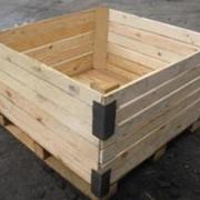 Контейнер овощной (поддон ящичный, деревянный, различных типов и размеров) фото