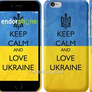 Чехол на iPhone 6 Keep calm and love Ukraine v2 1114c-45 фото