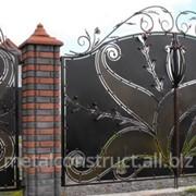 Ворота кованые авторские №55 фото