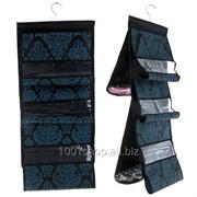 Органайзер для сумок с вешалкой, двухсторонний 5 отделений,цвет черно-синий фото