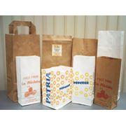 Бумажные пакеты из крафт-бумаги фото
