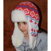 Шапки вязаные детские с мехом фото