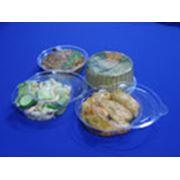 Упаковка для салатов закусок мясных рыбных и овощных полуфабрикатов фото