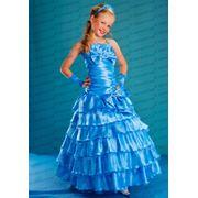Прокат и продажа нарядных платьев для девочек. Атласные платья. фото