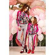 Спортивные костюмы для мамы и дочки, цветочный принт, разные расцветки фото