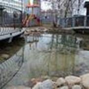 Строительство декоративного искусственного водоема / пруда фонтана ручья водопада на участке в Минске и по всей Беларуси фото