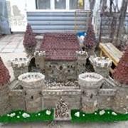 Макет средневекового замка. фото