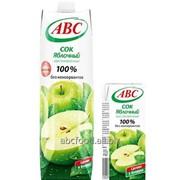 Сок 100% Яблочный, объём 1/0,2л фото