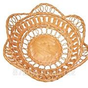 Хлебница круглая с расширен. верхом в виде фестонов разного плетения(Ф20*Н7), арт. 892621 фото