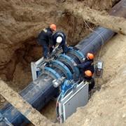 Стыковая сварка ПЭ трубопроводов фото