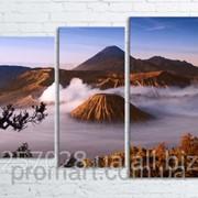 Модульна картина на полотні Вулкан Бромо. Індонезія код КМ80106-104 фото