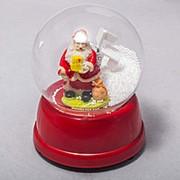 Шар Дед Мороз в шаре 13см фото