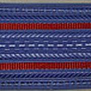 Погоны голубые с двумя красными просветами (основа: ПЛАСТИК) фото