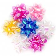 "Бант-звезда OMG ""Перламутр"" 2,5 см, 100 шт., на липучке, ассорти, OM500558-10 фото"