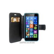 Чехол - книжка для телефона Lumia 640. Черный. фото
