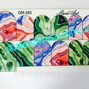 Наклейка на ногти Sliders art DM - 353 фото