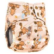 Многоразовый подгузник GlorYes! PREMIUM Медвежонок 3-18 кг + два вкладыша фото