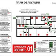 Фотолюминисцентный план эвакуации при пожаре фото