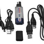 TecMate Универсальное влагозащищённое зарядное устройство с удлиннителем USB. USB mini mikro адаптеры 5V. 1A. SAE фото