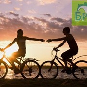 Зеленый туризм, активный отдых. Прогулки на велосипеде. Велотуры, велогонки. Велопрогулки. Вдвоем на велосипеде. Велик напрокат. Романтическое путешествие на велосипеде. фото