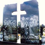 Гранитный памятник двойной №255 фото