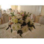 цветочные композиции для оформления столов фото