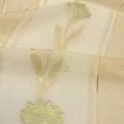 Тюль лен с Фантазийным рисунком фото
