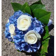 Букет невесты небольшой но прекрасный. Готензия+роза фото
