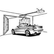 Автоматизация гаражных распашных ворот фото